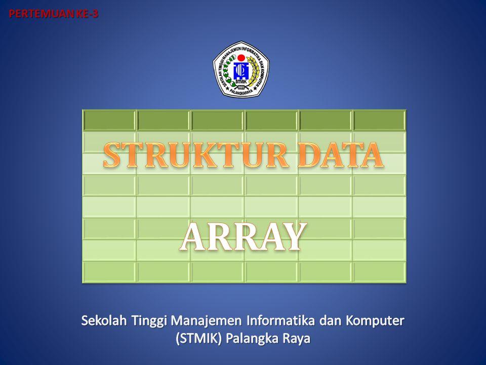 Pemetaan Sparse Array dengan Vektor Kekurangan pemetaan sparse array dengan vektor adalah tidak mudah melakukan updating nilai terhadap array.