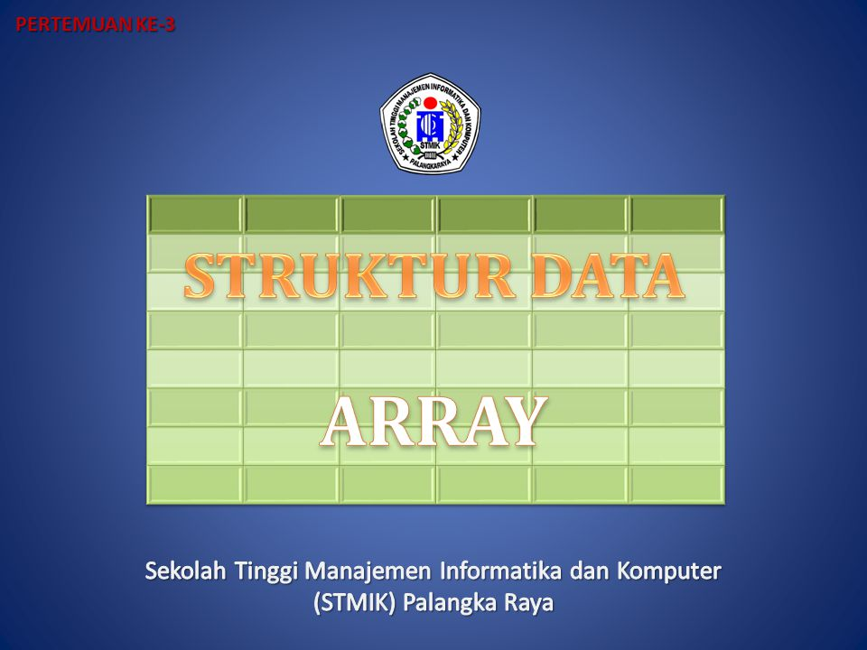 12530 04673 00504 00089 00003 10000 24000 56300 37270 08179 Upper Triangular Array Lower Triangular Array Jumlah elemen berarti = N (N + 1) /2 N = jumlah baris/kolom