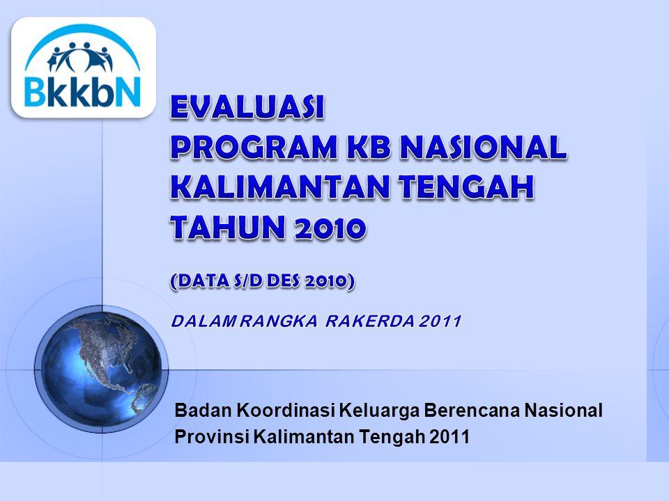 Badan Koordinasi Keluarga Berencana Nasional Provinsi Kalimantan Tengah 2011