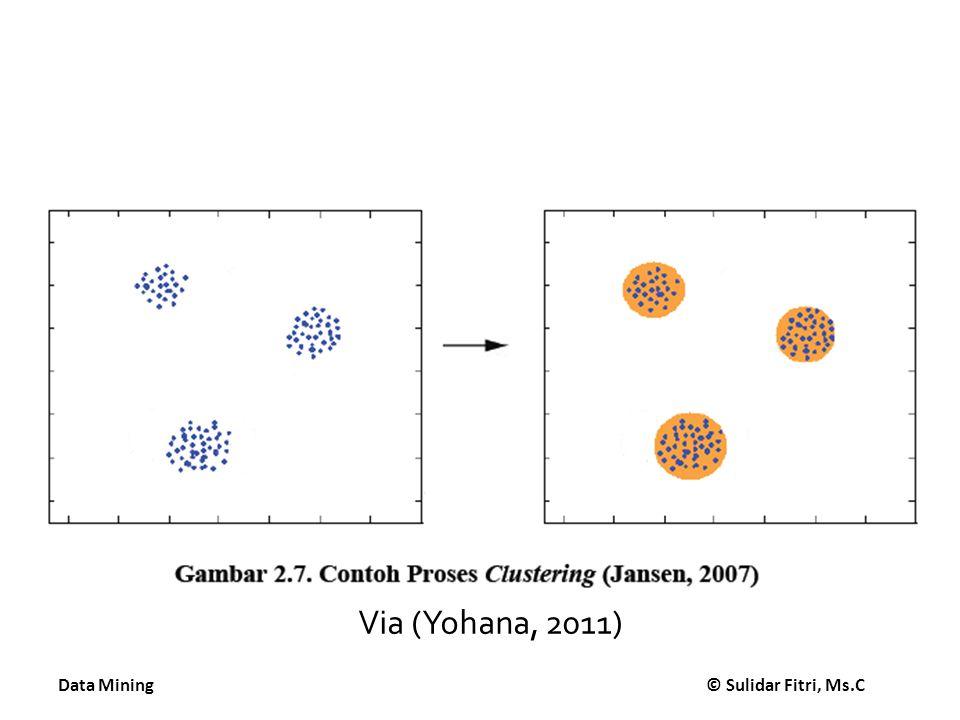 Data Mining © Sulidar Fitri, Ms.C Via (Yohana, 2011)