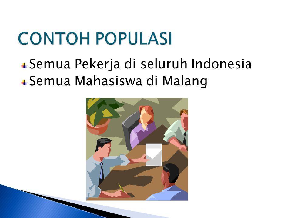 Semua Pekerja di seluruh Indonesia Semua Mahasiswa di Malang