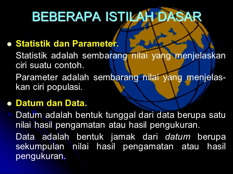 JENIS DATA DATA KUALITATIFKUANTITATIF NOMINAL ORDINAL INTERVAL RASIO