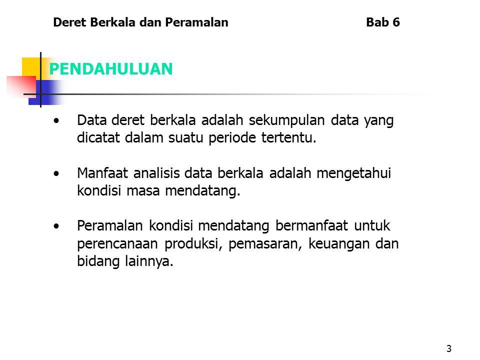 3 Data deret berkala adalah sekumpulan data yang dicatat dalam suatu periode tertentu. Manfaat analisis data berkala adalah mengetahui kondisi masa me