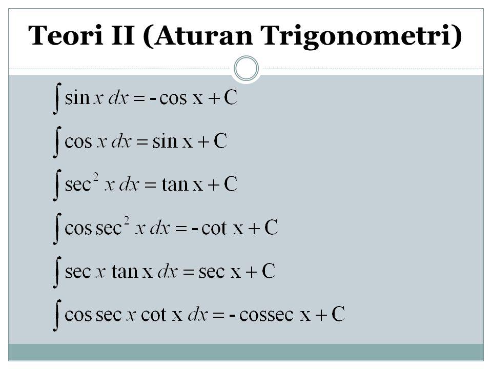Teori II (Aturan Trigonometri)
