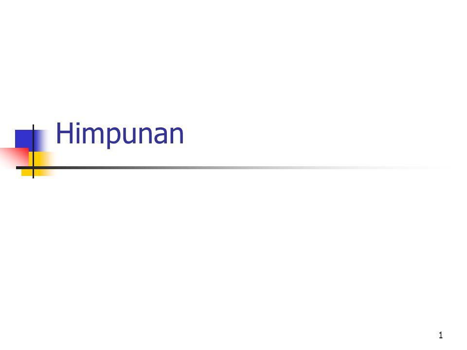 1 Himpunan