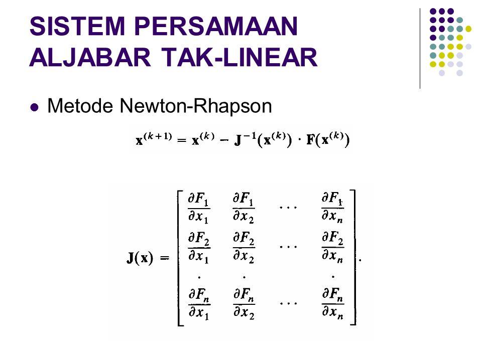 SISTEM PERSAMAAN ALJABAR TAK-LINEAR Metode Newton-Rhapson