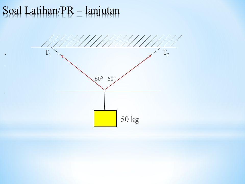 . T 1 T 2. 60 0 60 0. 50 kg