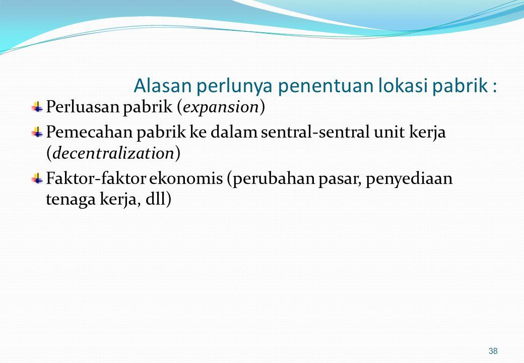 Pemilihan Lokasi Pabrik dengan Metode Kualitatif (2) 2.