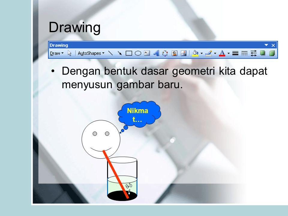 Drawing Dengan bentuk dasar geometri kita dapat menyusun gambar baru. Nikma t…