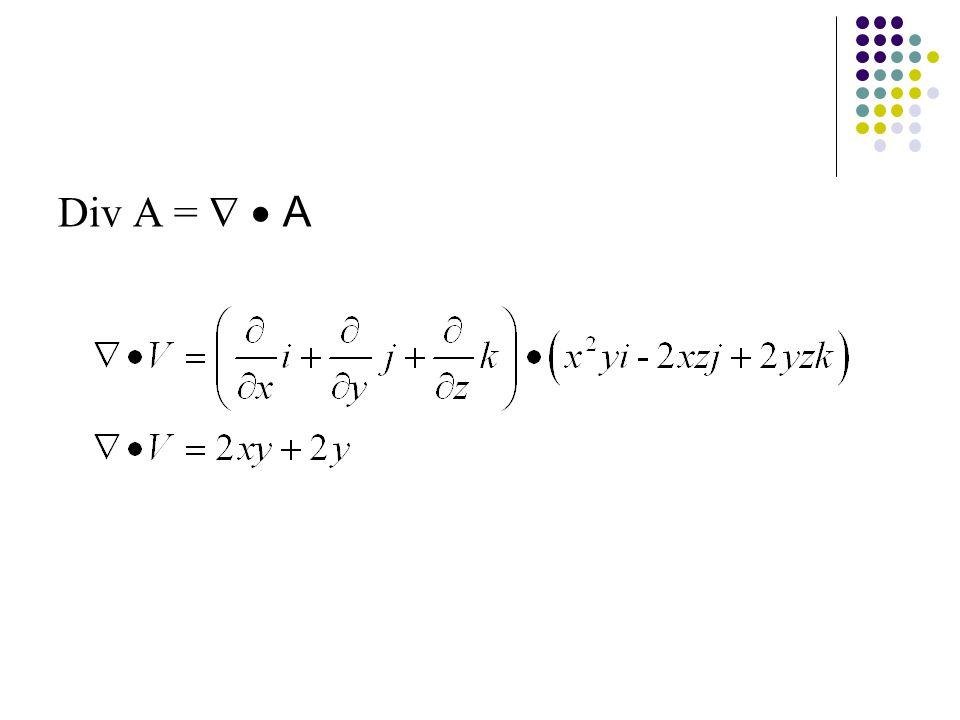 Div A =   A