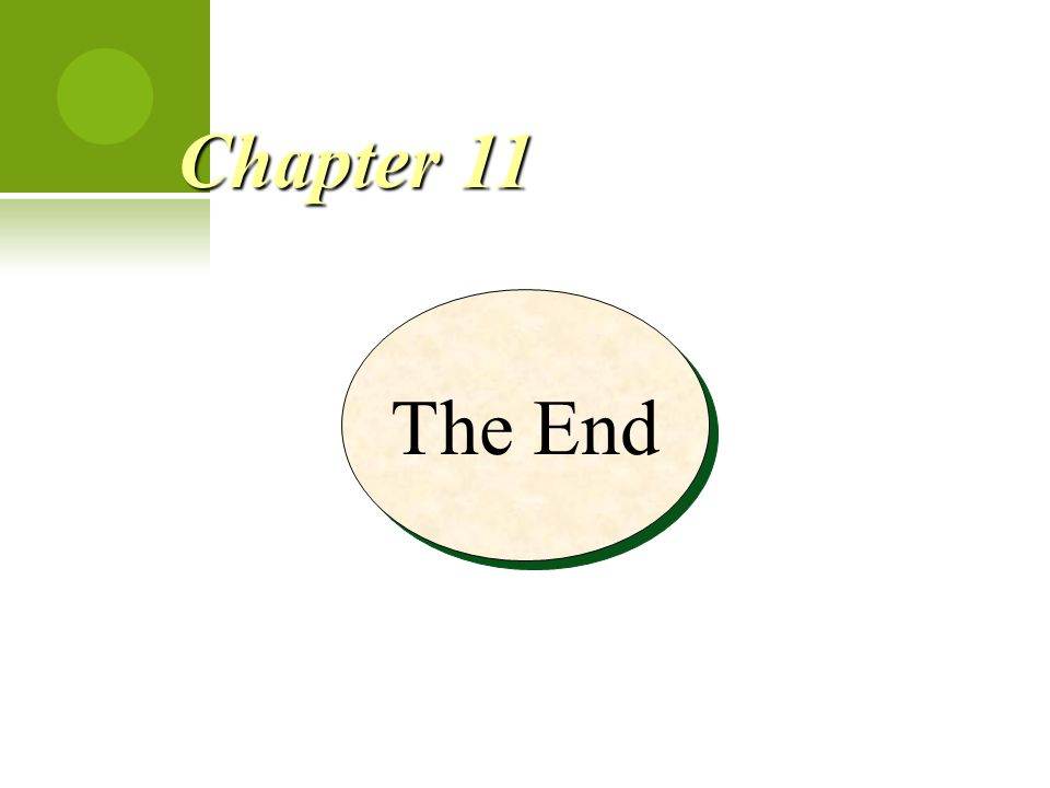 The End Chapter 11