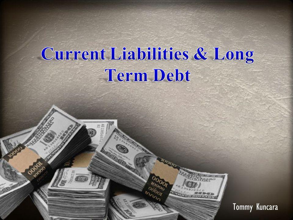 Current Liabilities Current liabilities (hutang lancar) adalah kewajiban yang likuidasinya di perkirakan secara layak memerlukan penggunaan sumber daya yg ada yg di klasifikansikan sebagai aktiva lancar, atau penciptaan kewajiban lancar lain Beberapa jenis hutang lancar 1.