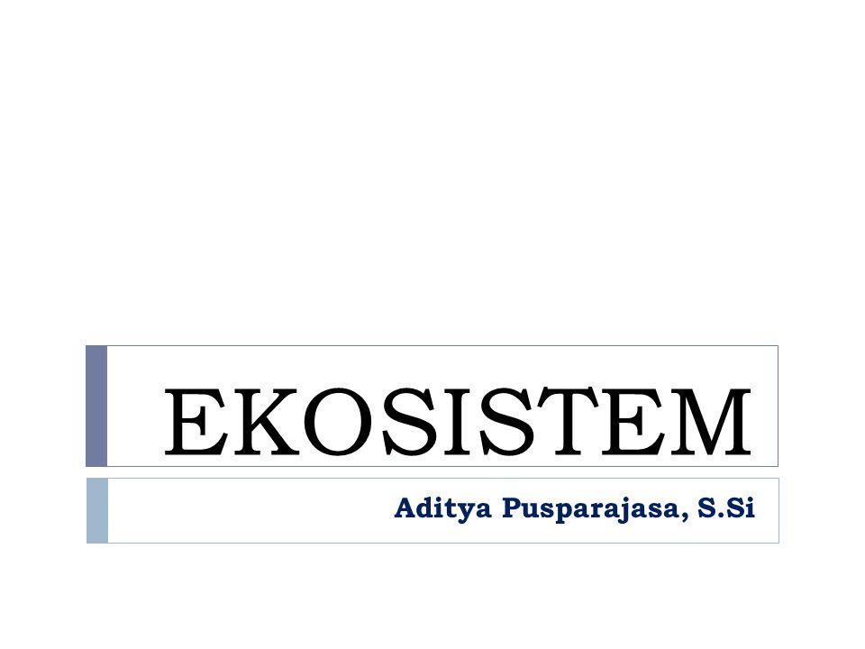 EKOSISTEM Aditya Pusparajasa, S.Si