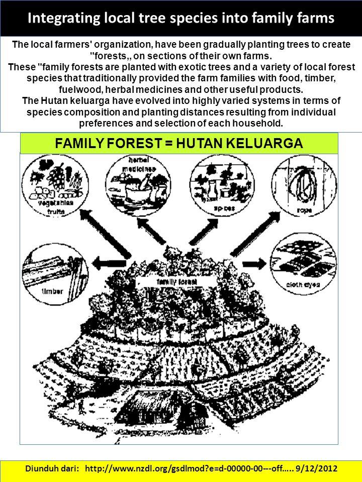 Integrating local tree species into family farms Diunduh dari: http://www.nzdl.org/gsdlmod?e=d-00000-00---off….. 9/12/2012 The local farmers' organiza