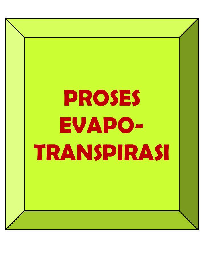 PROSES EVAPO- TRANSPIRASI