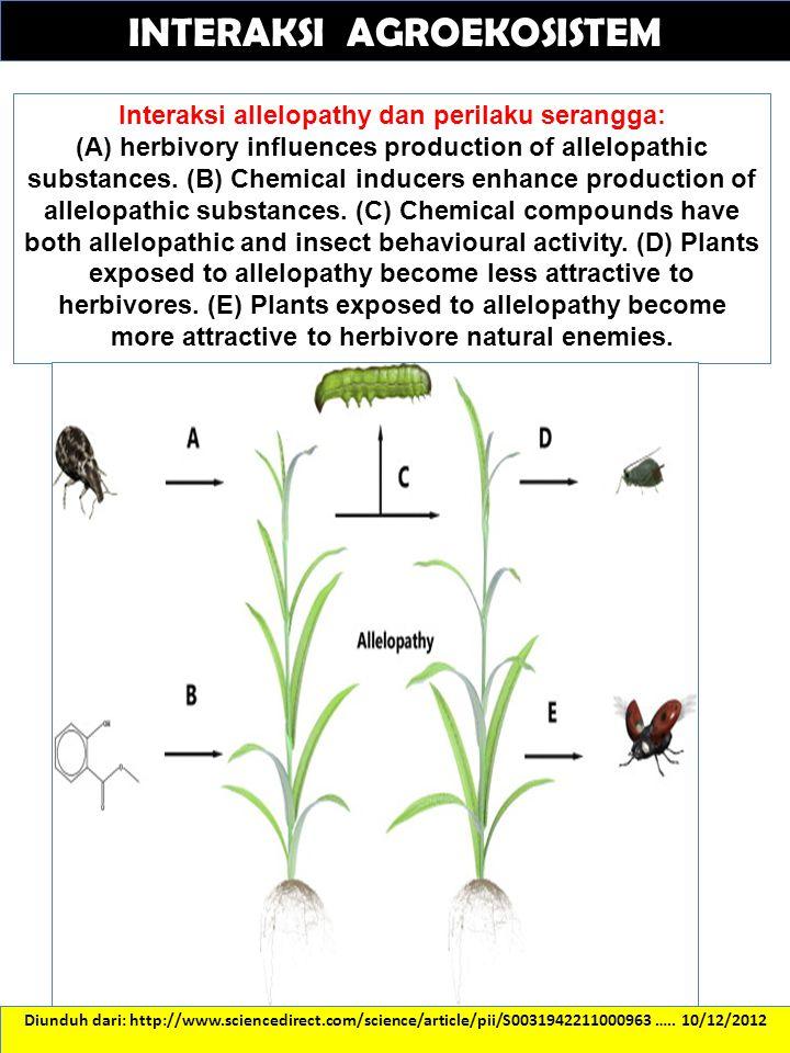 Diunduh dari: http://www.sciencedirect.com/science/article/pii/S0031942211000963 ….. 10/12/2012 INTERAKSI AGROEKOSISTEM Interaksi allelopathy dan peri