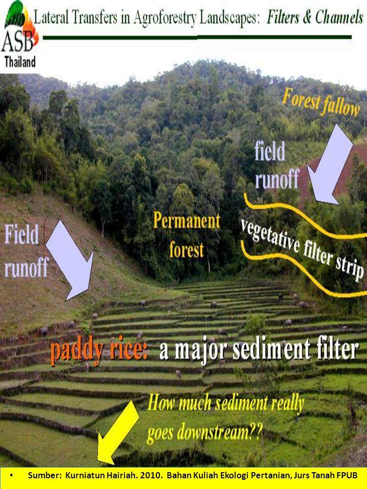 Sumber: Kurniatun Hairiah. 2010. Bahan Kuliah Ekologi Pertanian, Jurs Tanah FPUB