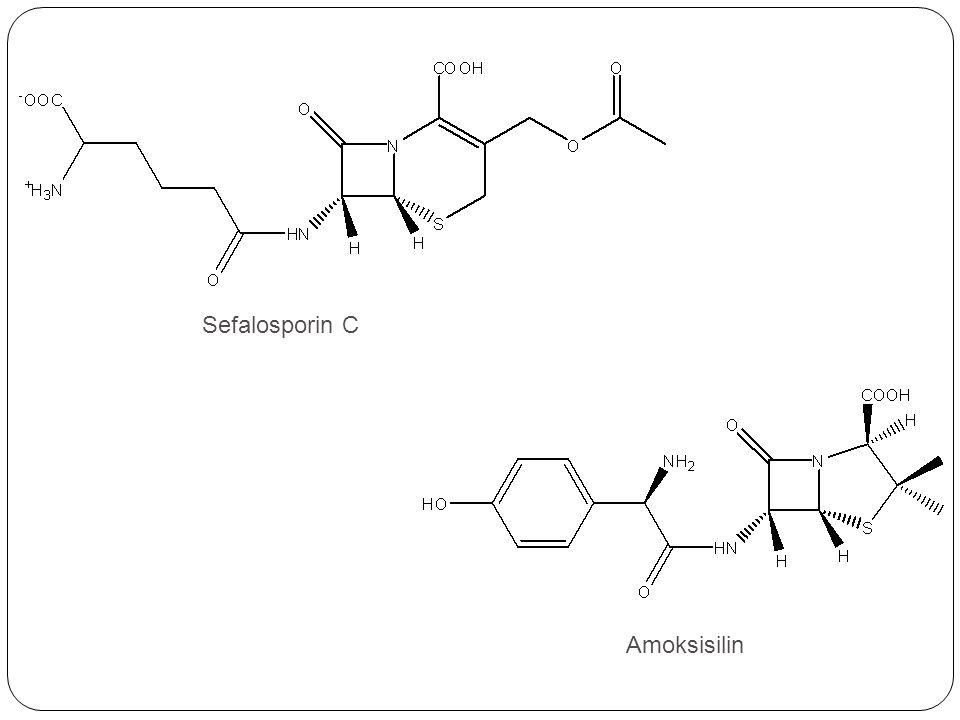 Reaksi diskoneksi menghasilkan reaktan berupa: 1.(R)-2-(p-hidroksifenil)glisin 2.