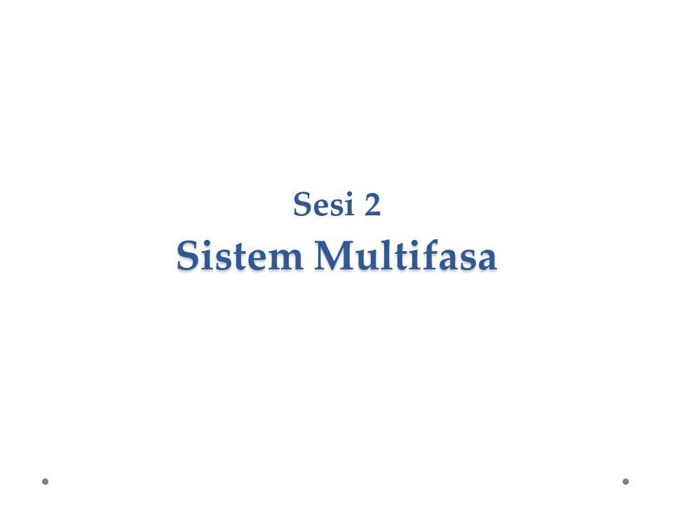 Sistem Multifasa Sesi 2 Sistem Multifasa