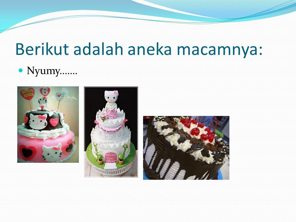 Penyelesaian: Belah cake membujur menjadi 3 bagian yang sama.