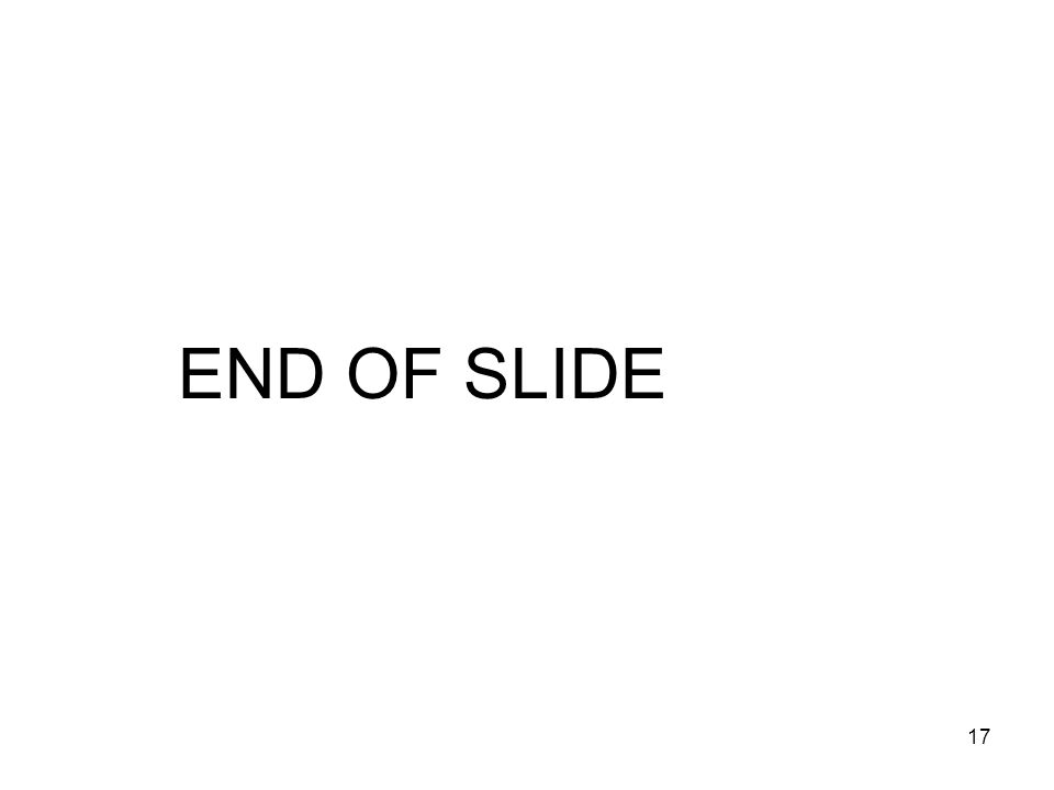 17 END OF SLIDE