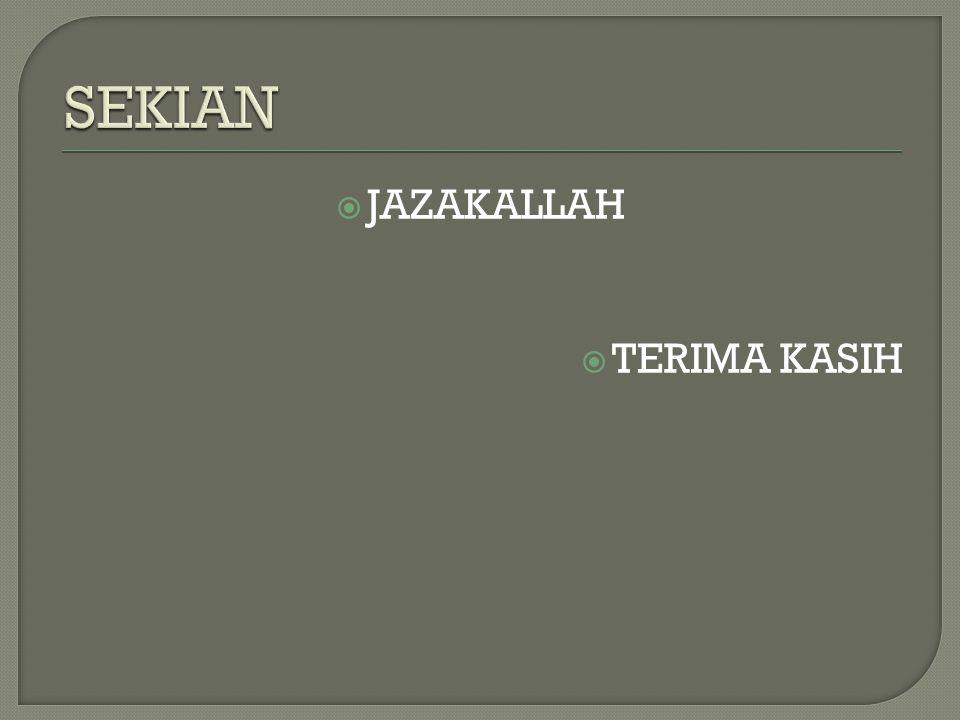  JAZAKALLAH  TERIMA KASIH