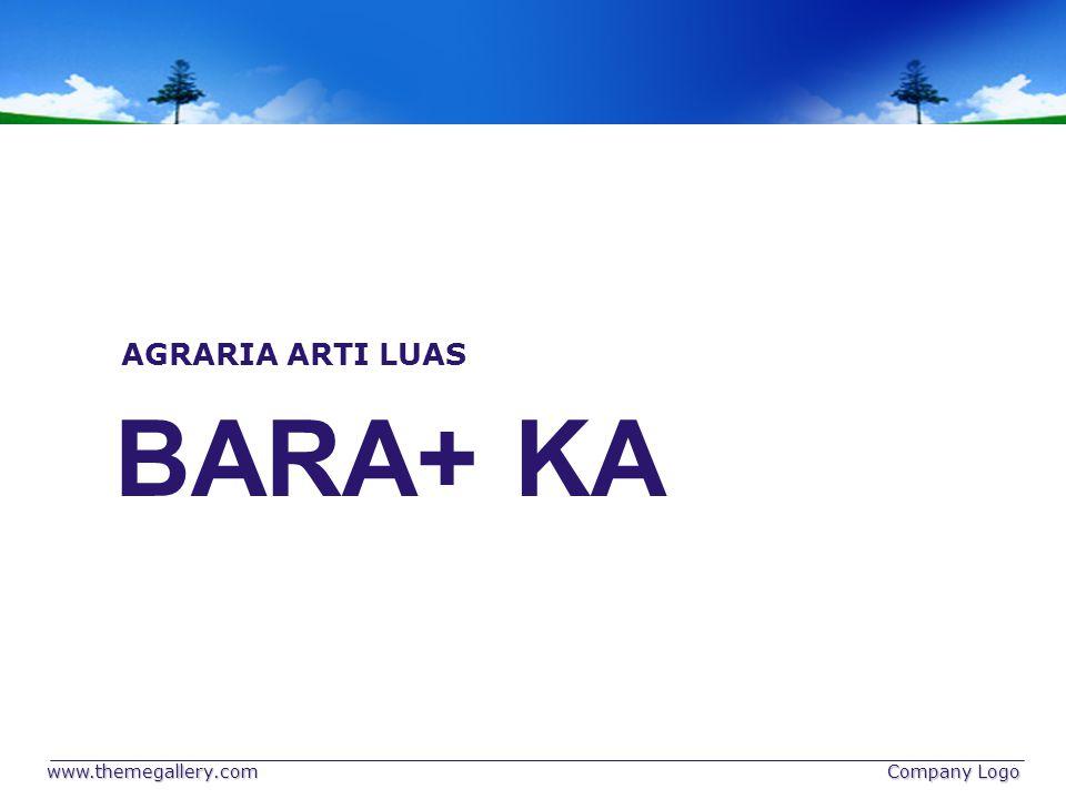 www.themegallery.com Company Logo BARA+ KA AGRARIA ARTI LUAS