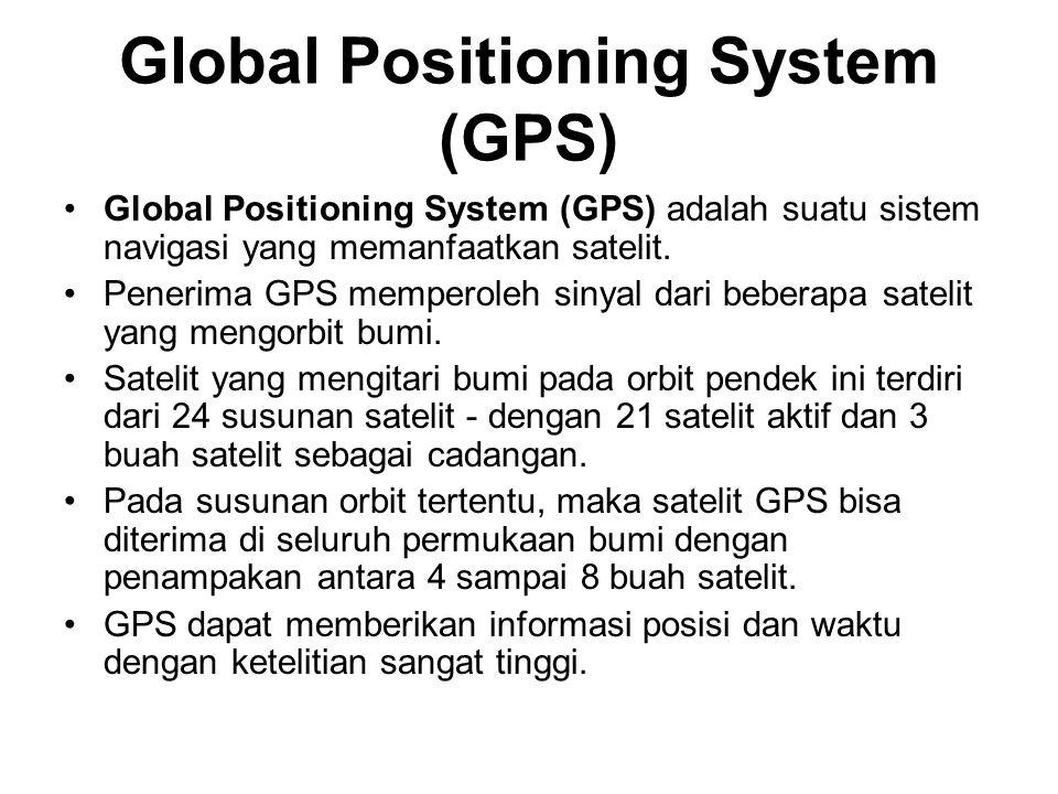 Global Positioning System (GPS) Global Positioning System (GPS) adalah suatu sistem navigasi yang memanfaatkan satelit.