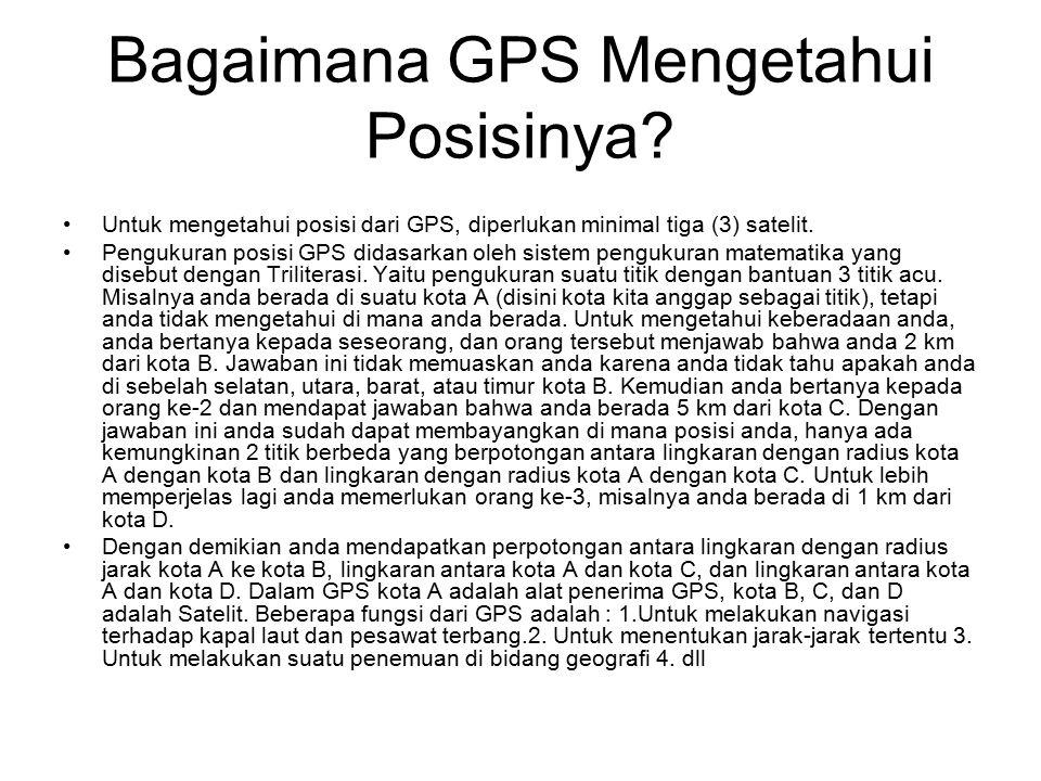 Bagaimana GPS Mengetahui Posisinya.