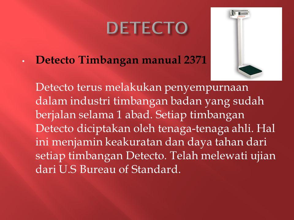 Detecto Timbangan manual 2371 Detecto terus melakukan penyempurnaan dalam industri timbangan badan yang sudah berjalan selama 1 abad.