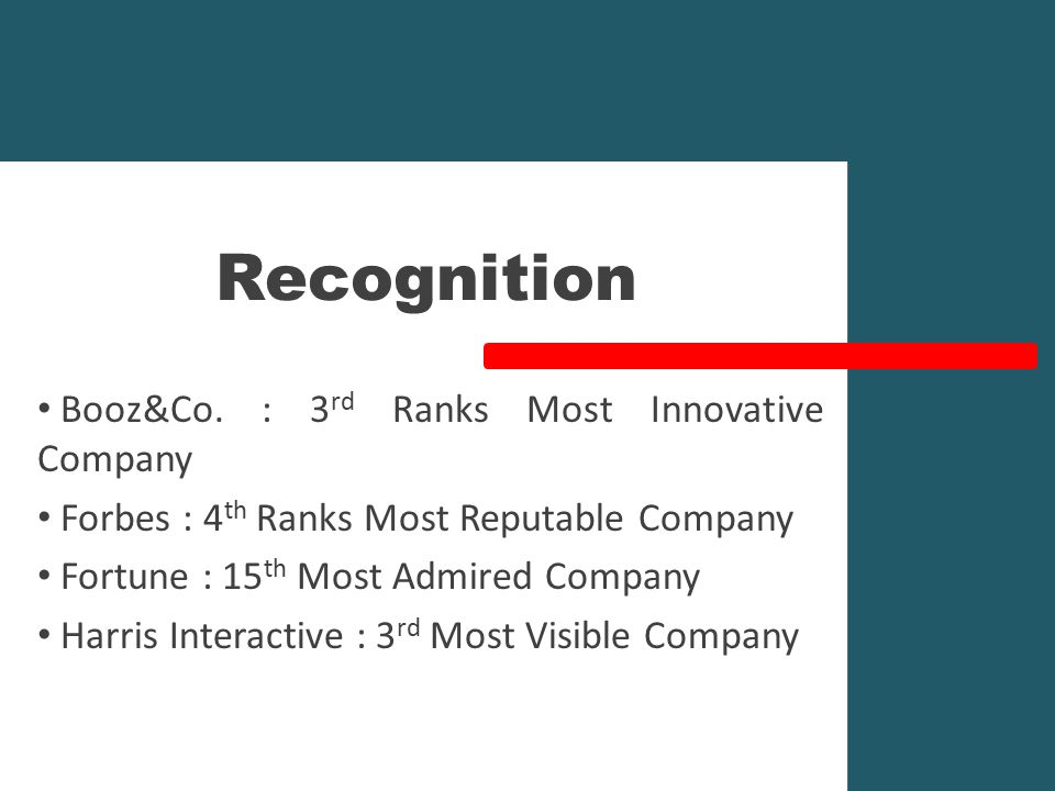 Recognition Booz&Co.