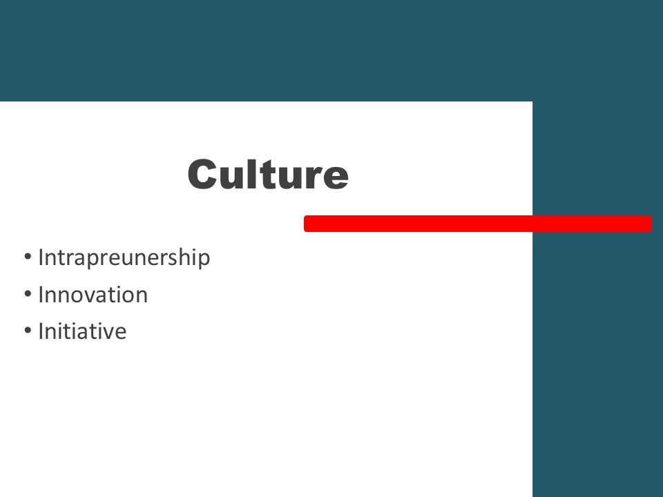 Culture Intrapreunership Innovation Initiative