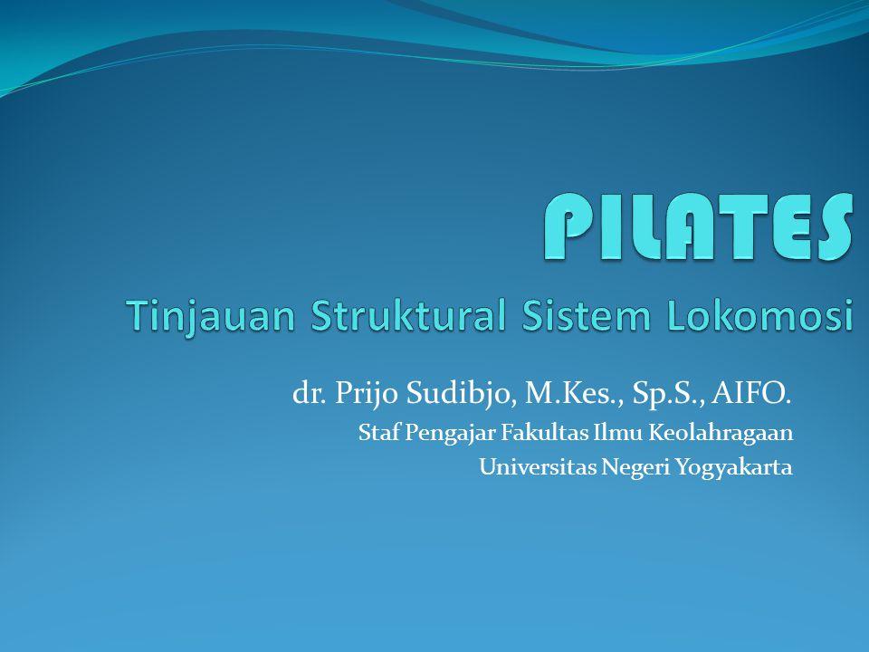 dr. Prijo Sudibjo, M.Kes., Sp.S., AIFO. Staf Pengajar Fakultas Ilmu Keolahragaan Universitas Negeri Yogyakarta