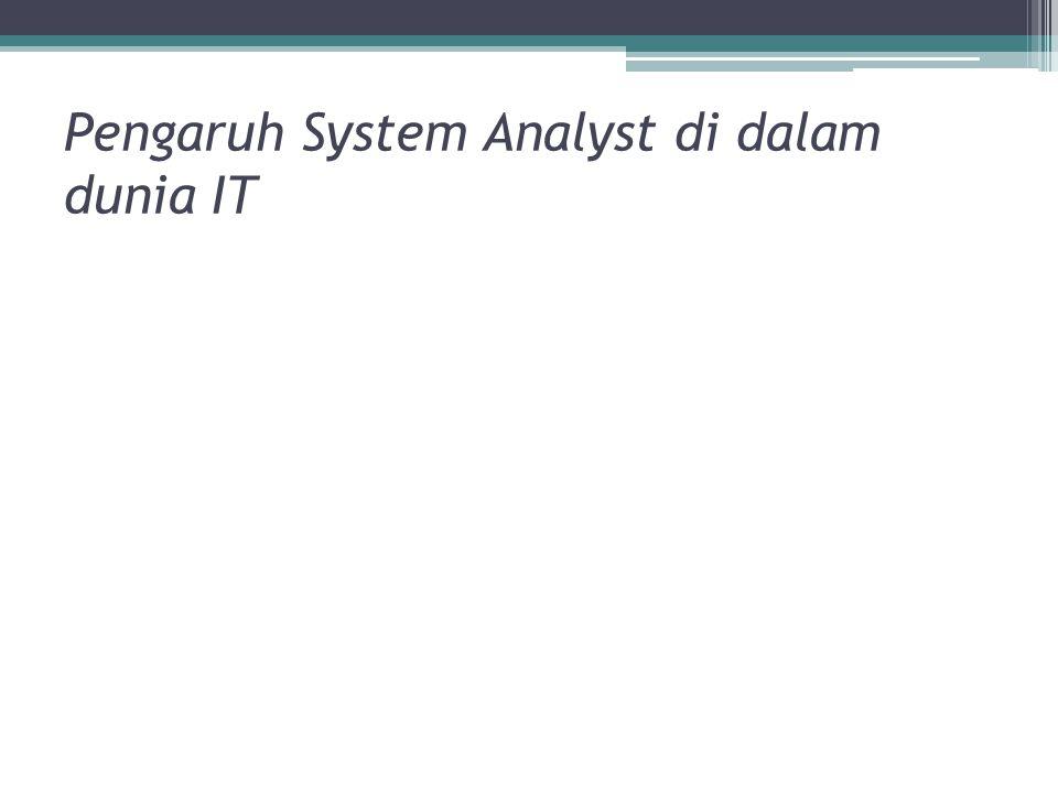 Pengaruh System Analyst di dalam dunia IT
