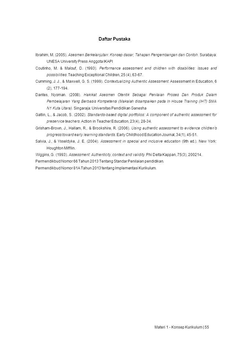 Daftar Pustaka Ibrahim, M.(2005).