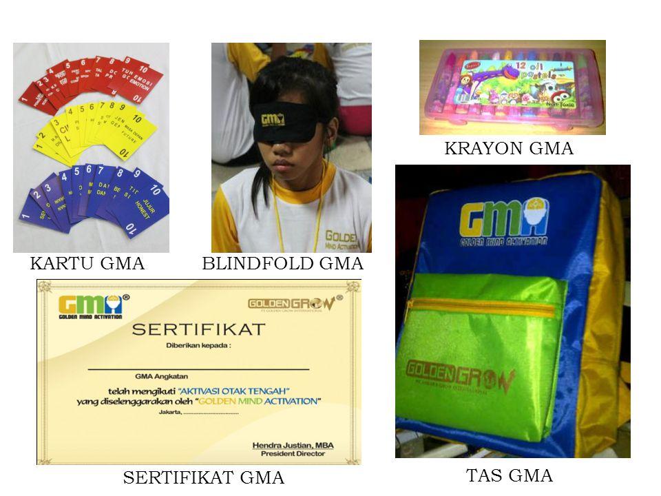 KARTU GMABLINDFOLD GMA KRAYON GMA TAS GMA SERTIFIKAT GMA