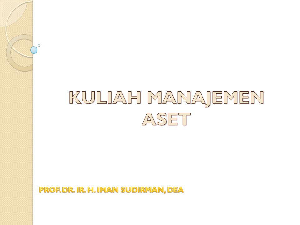 Tujuan : 1.Memberikan pemahaman tentang teori dan konsep dalam manajemen aset 2.