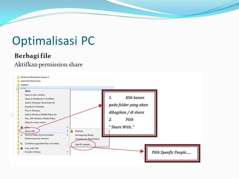 Optimalisasi PC Berbagi file