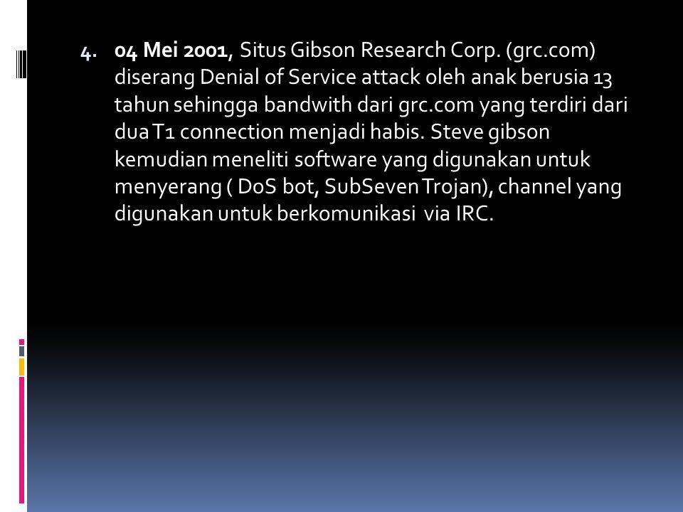 # Sejarah sistem keamanan komputer di Indonesia 1.