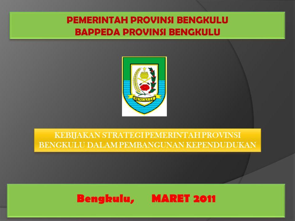  Provinsi Bengkulu merupakan salah satu dari Provinsi yang terletak di bagian Barat Pulau Sumatera yang secara geografis terletak di antara 2°16´ - 3°31' LS dan 101°1´ - 103°41' BT.