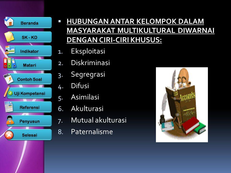  MULTIKULTURAL pada dasarnya sama ddengan pluralisme.