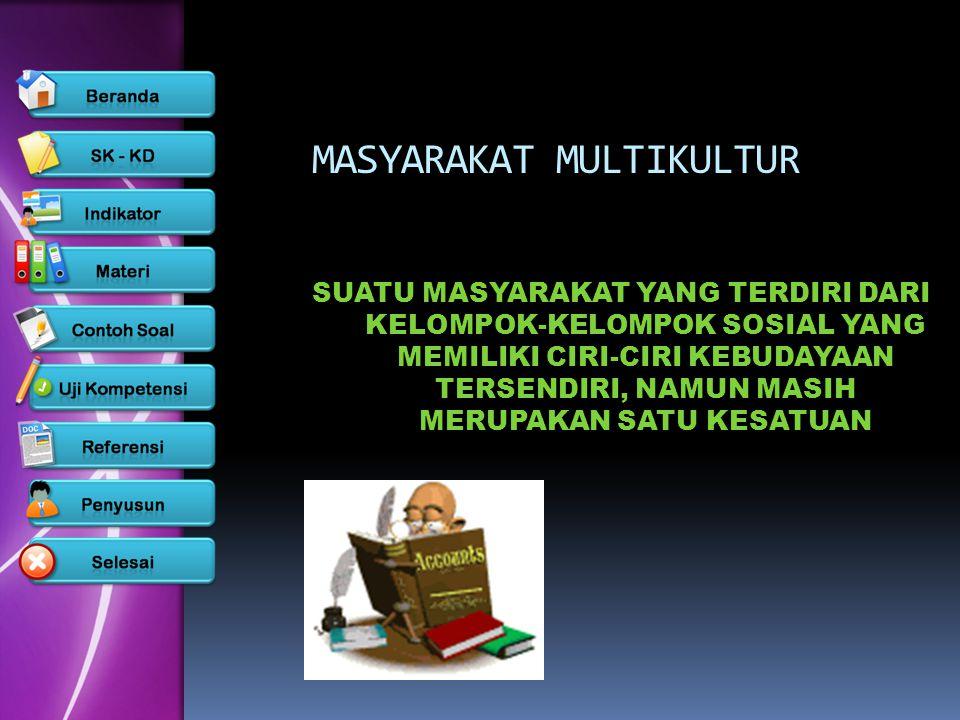  INDONESIA merupakan masyarakat multikulral.Indonesia terdiri dari beratus-ratus suku bangsa, dan setiap suku memiliki kebudayaan daerah masing-masing.
