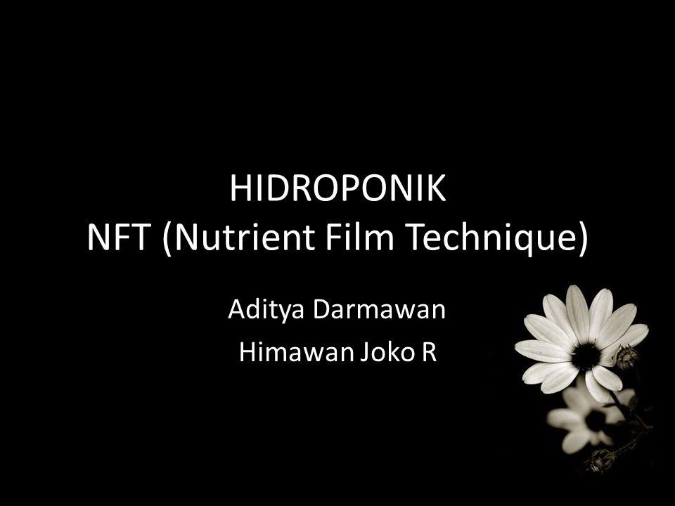 HIDROPONIK NFT (Nutrient Film Technique) Aditya Darmawan Himawan Joko R
