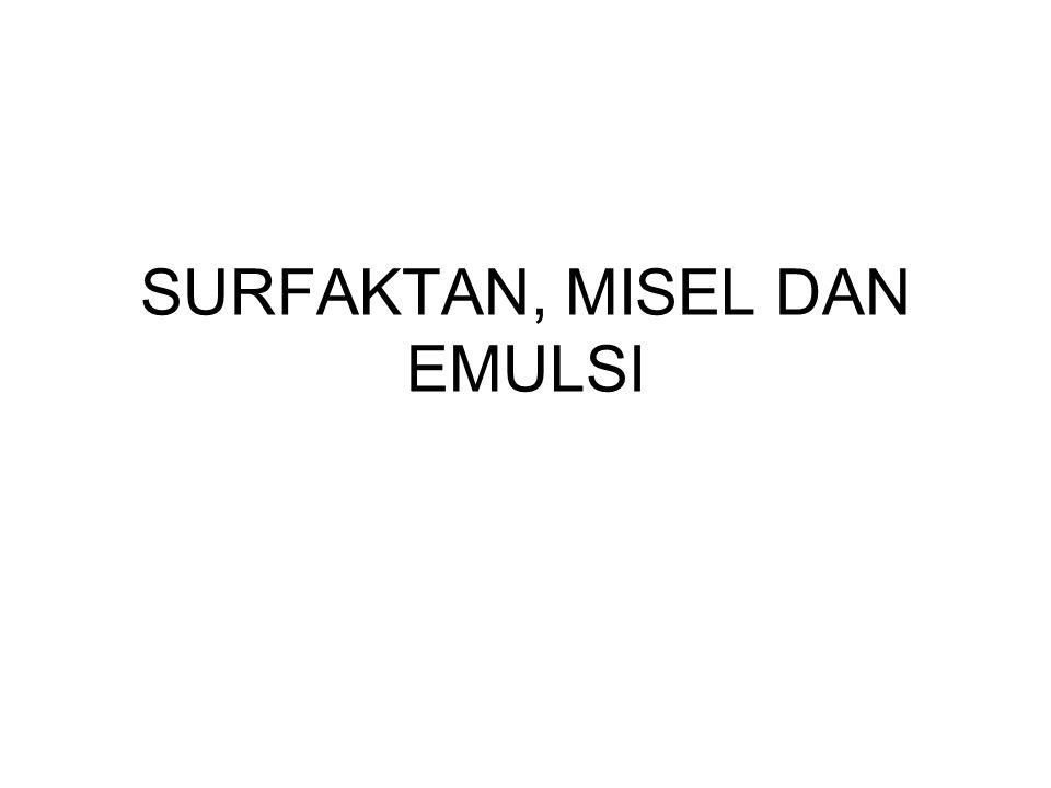 SURFAKTAN, MISEL DAN EMULSI
