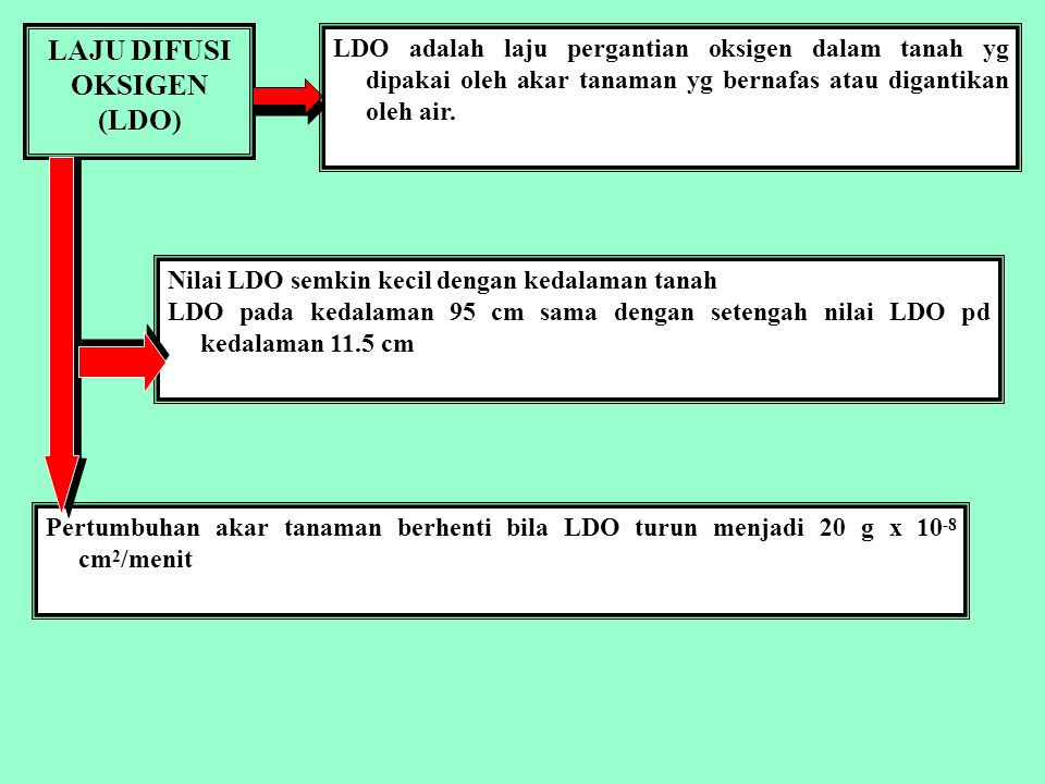 KOMPOSISI UDARA TANAH Sumber: http://www.landfood.ubc.ca/soil200/components/air.htm The composition of soil air is different from that of the atmosphere because it cannot readily mix with air above the soil.