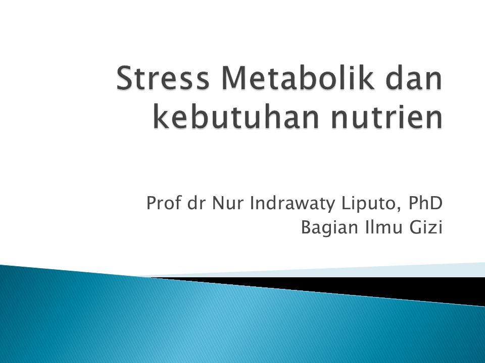 Prof dr Nur Indrawaty Liputo, PhD Bagian Ilmu Gizi