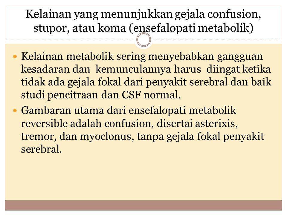Prognosis hipoksia iskemia brain injury Gejala klinis yang menunjukkan outcome yang jelek: - Respon kornea (-) - Reaktivitas pupil (-) - Tidak ada reaksi terhadap nyeri - Respon motorik (-)