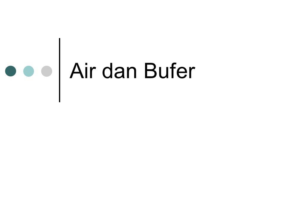 Air dan Bufer