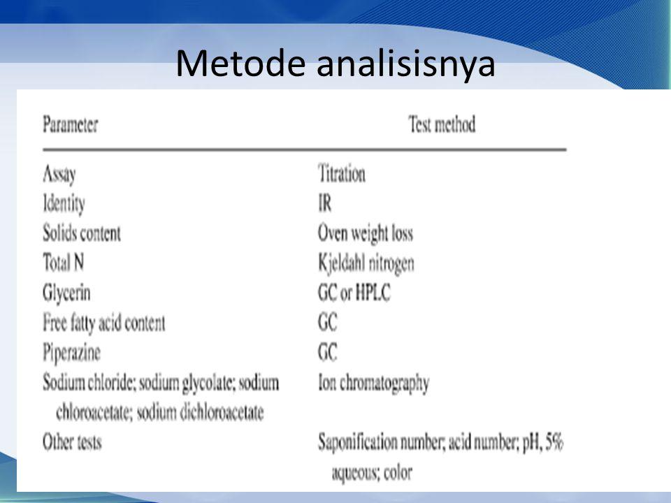 Metode analisisnya