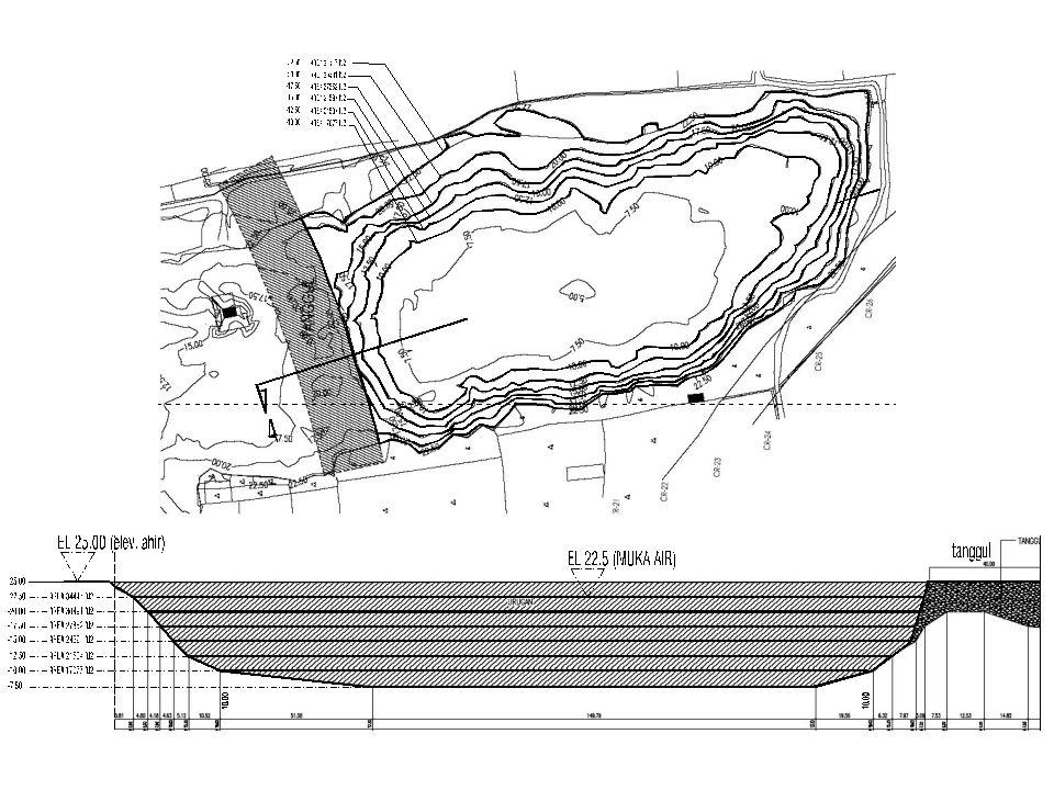 Tahapan Pekerjaan Pelaksanaan HVDM 1.Pengeringan air danau Selatan dan Utara (by owner).